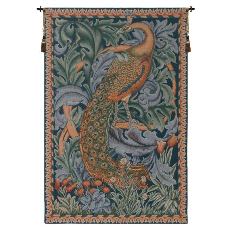 Peacock French Tapestry Wall Hanging