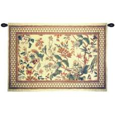 Le Coq with Flower European Tapestry