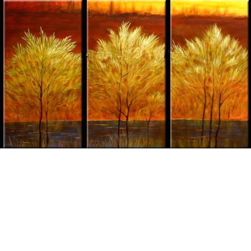 Golden Boughs Canvas Art