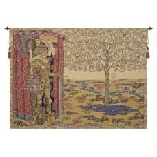 The Knight with the Tree of Life Italian Tapestry Wall Hanging