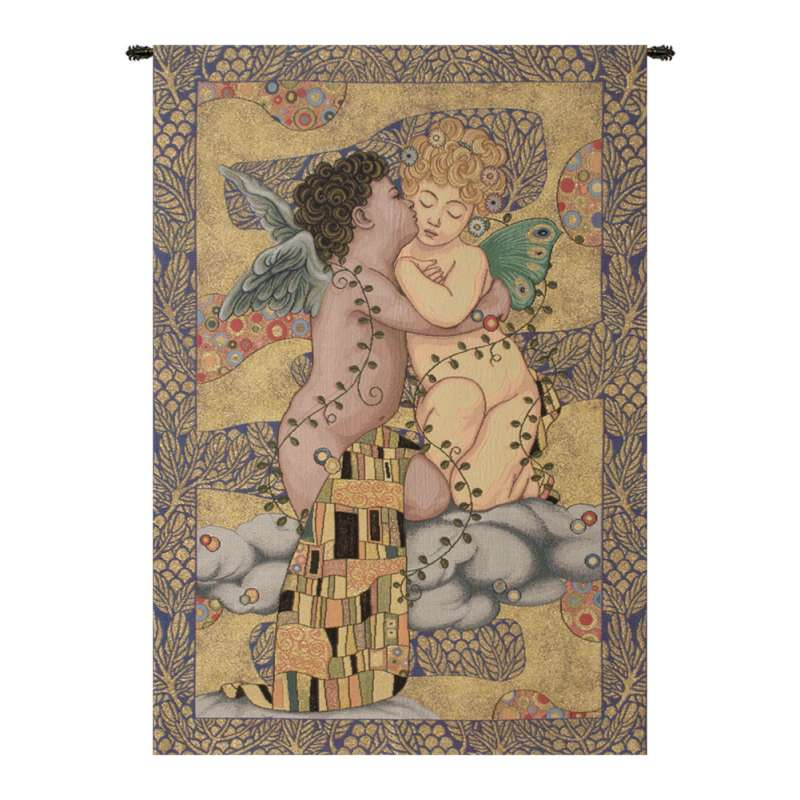 The First Kiss Italian Tapestry Wall Hanging