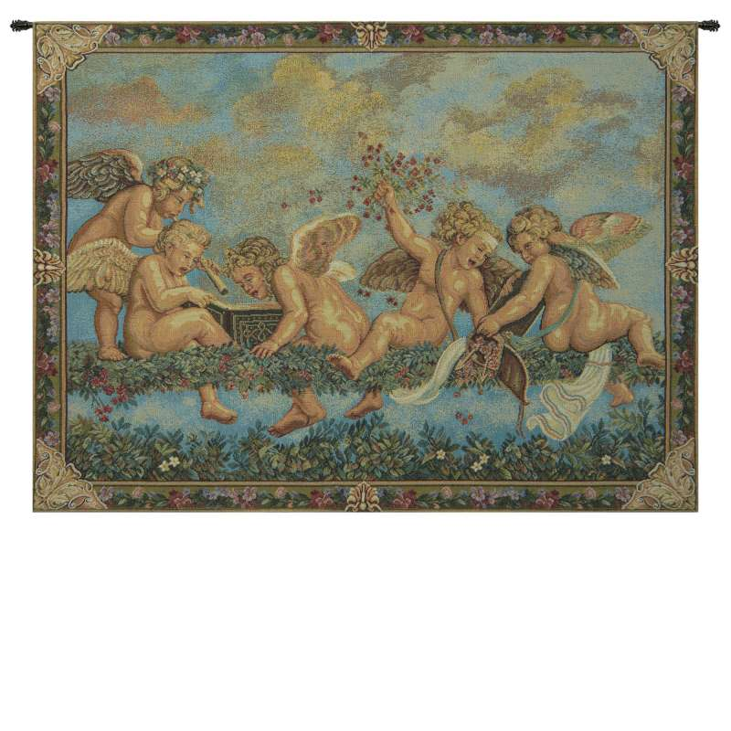 Les Angelots French Tapestry Wall Hanging