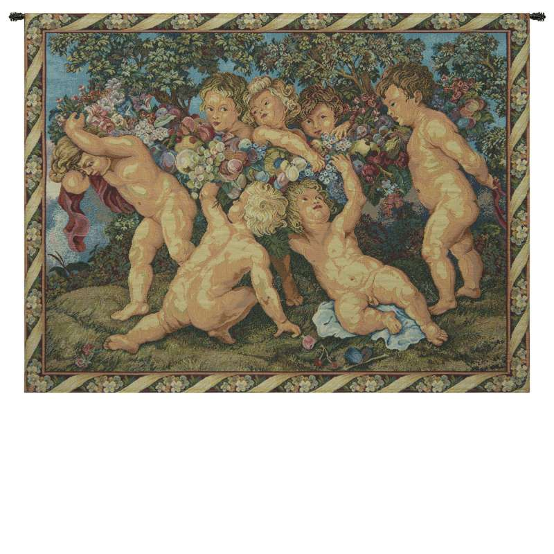 Les Amours French Tapestry Wall Hanging