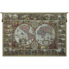 Mappemonde French Tapestry Wall Hanging
