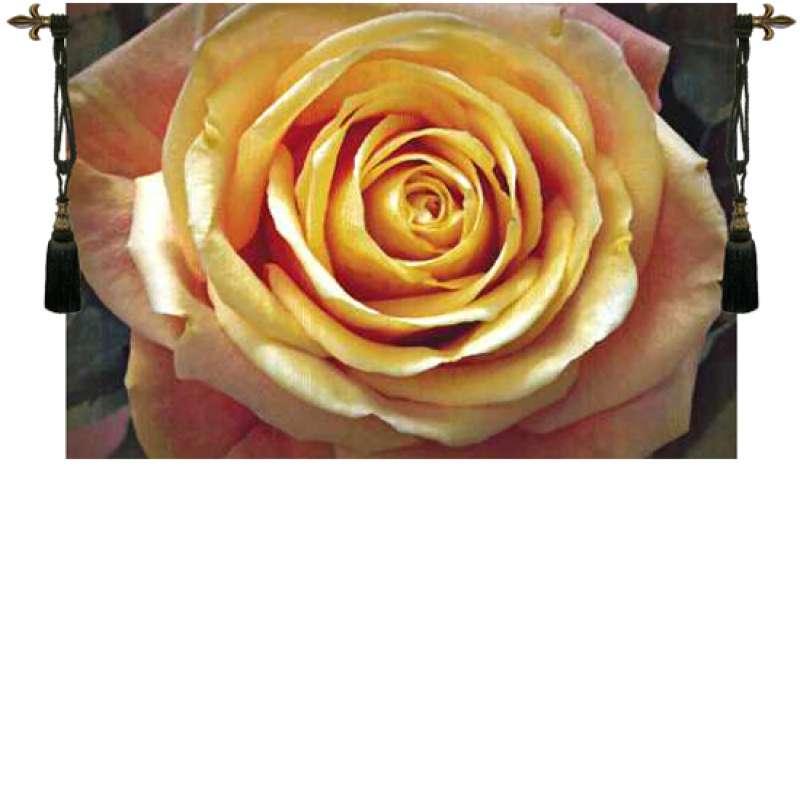 Yellow Rose Belgian Tapestry Wall Hanging