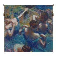 Blue Dancers Belgian Tapestry Wall Hanging
