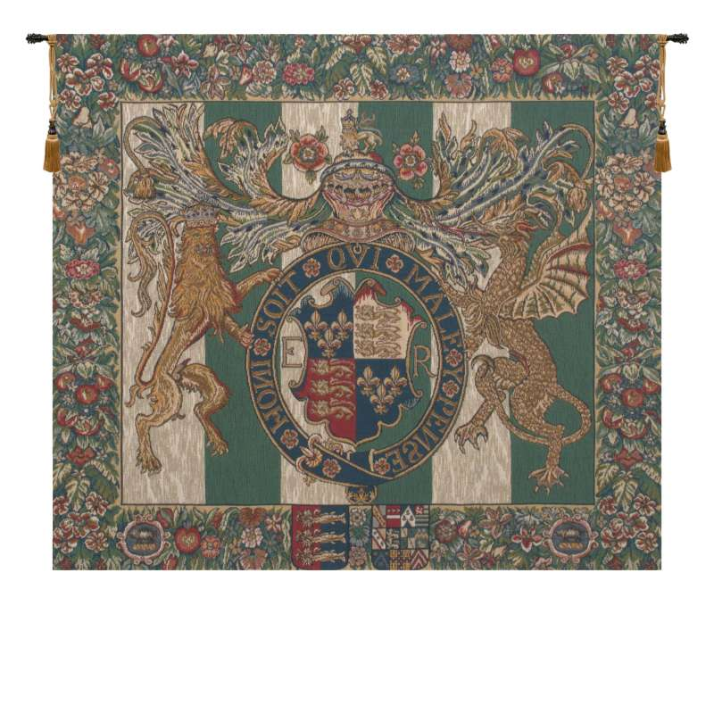 Royal Arms of England European Tapestry