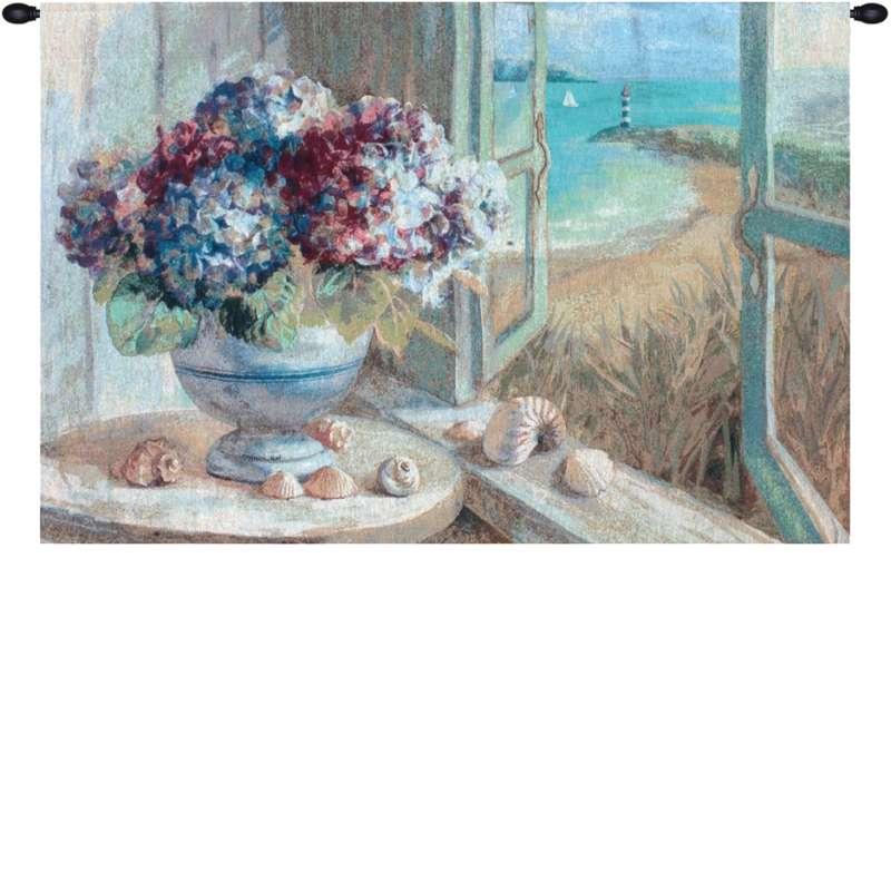 Coastal Hydrangeas Fine Art Tapestry