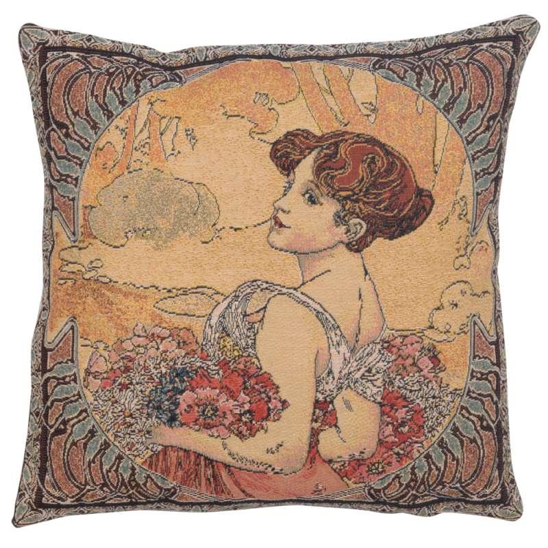 Mucha Summer II European Cushion Cover