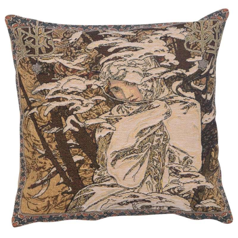 Mucha Winter I European Cushion Cover