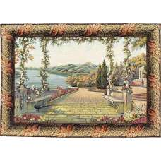 Terrace and Lake Italian Tapestry