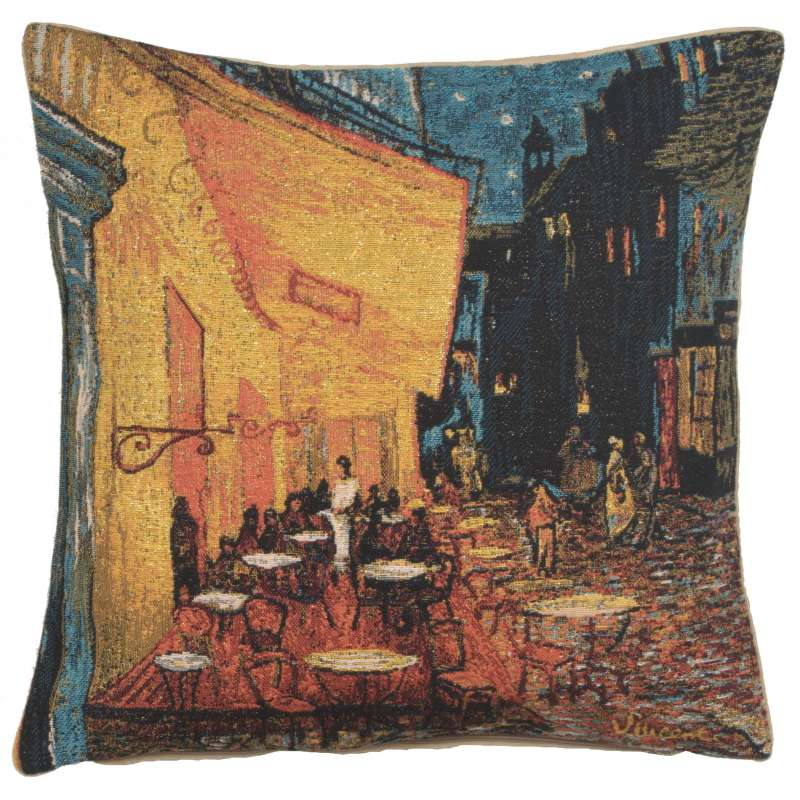 Cafe Terrace at Night European Cushion Cover