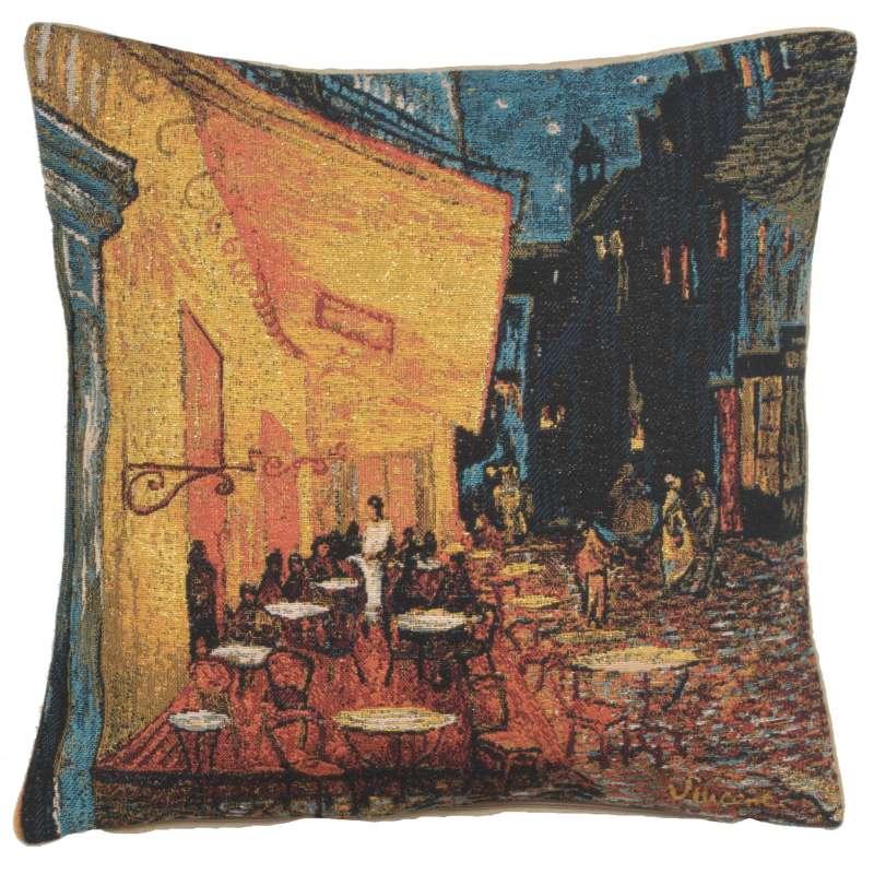 Cafe Terrace at Night European Cushion Cover