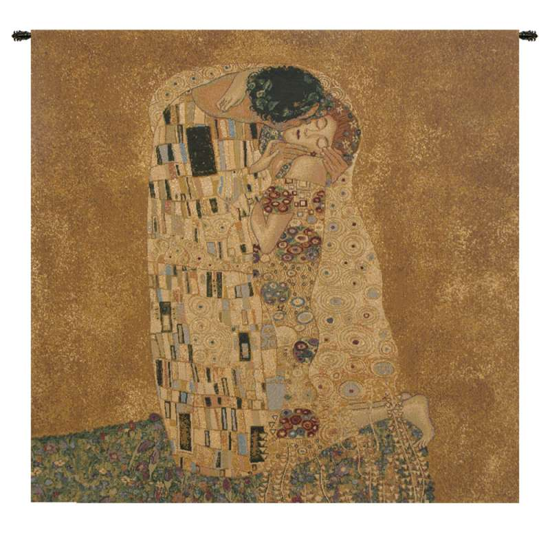 The Kiss by Klimt I Italian Tapestry Wall Hanging