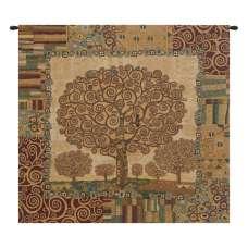 Klimts Tree of Life Italian Tapestry Wall Hanging