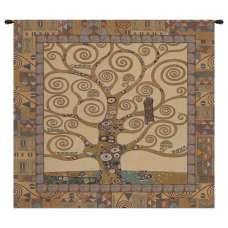 Tree of Life by Gustav Klimt Italian Tapestry Wall Hanging