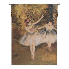 Two Dancers On Stage by Degas European Tapestry