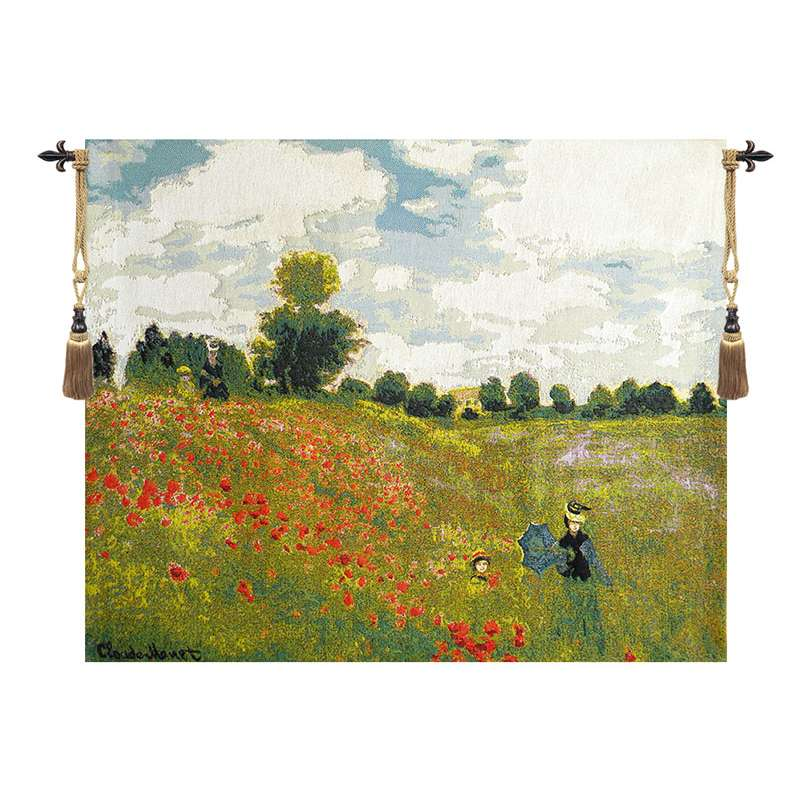 Poppies by Monet European Tapestry Wall Hanging
