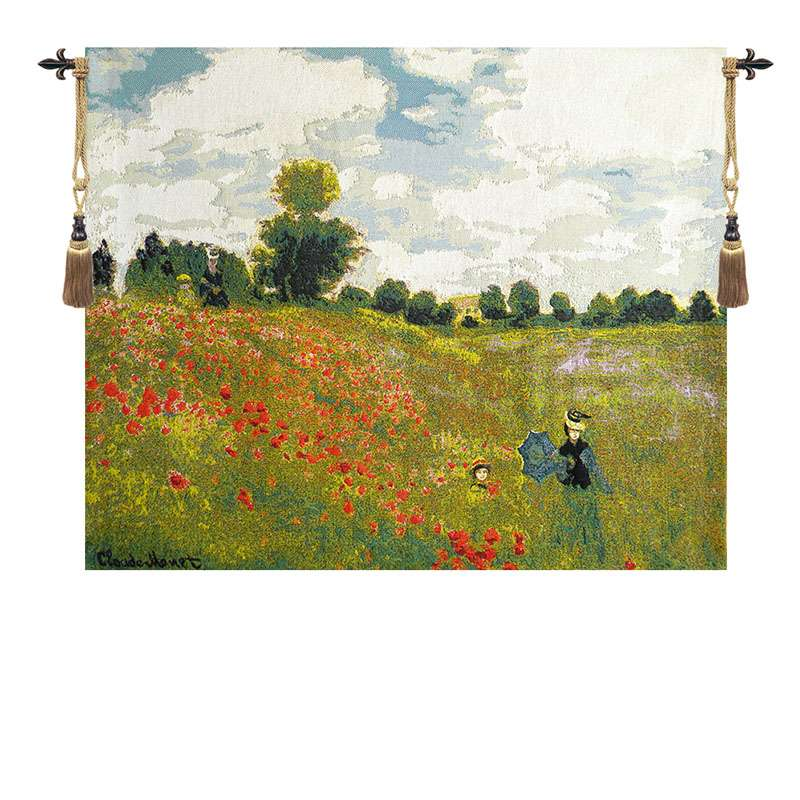 Poppies by Monet European Tapestry
