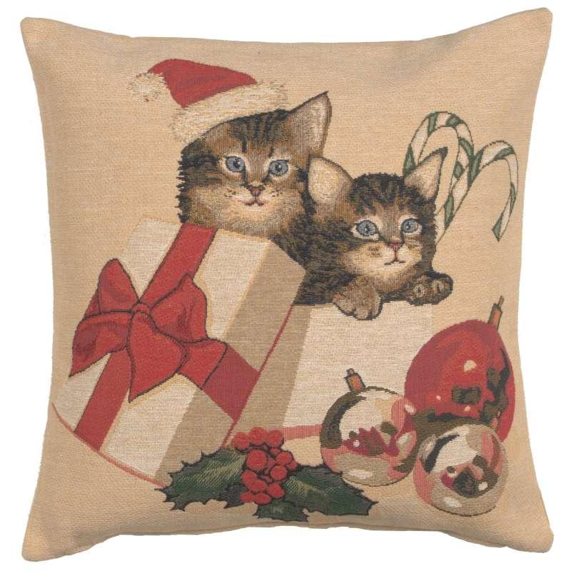 Christmas Kitties European Cushion Cover