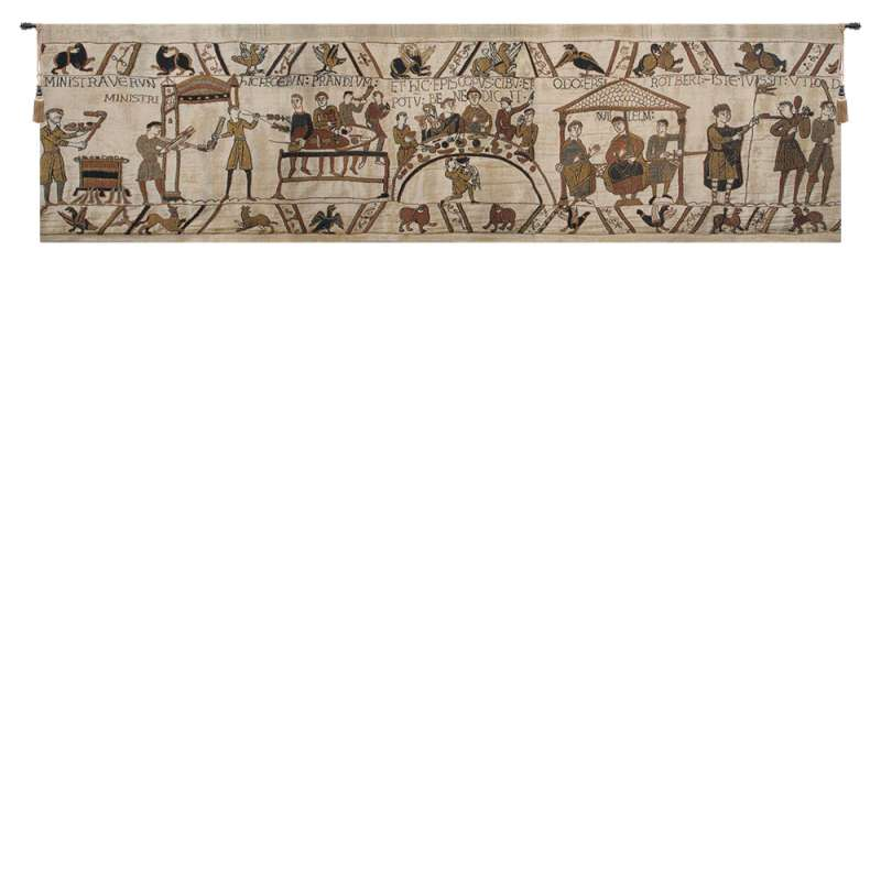 Bayeux Banquet Belgian Tapestry Wall Hanging