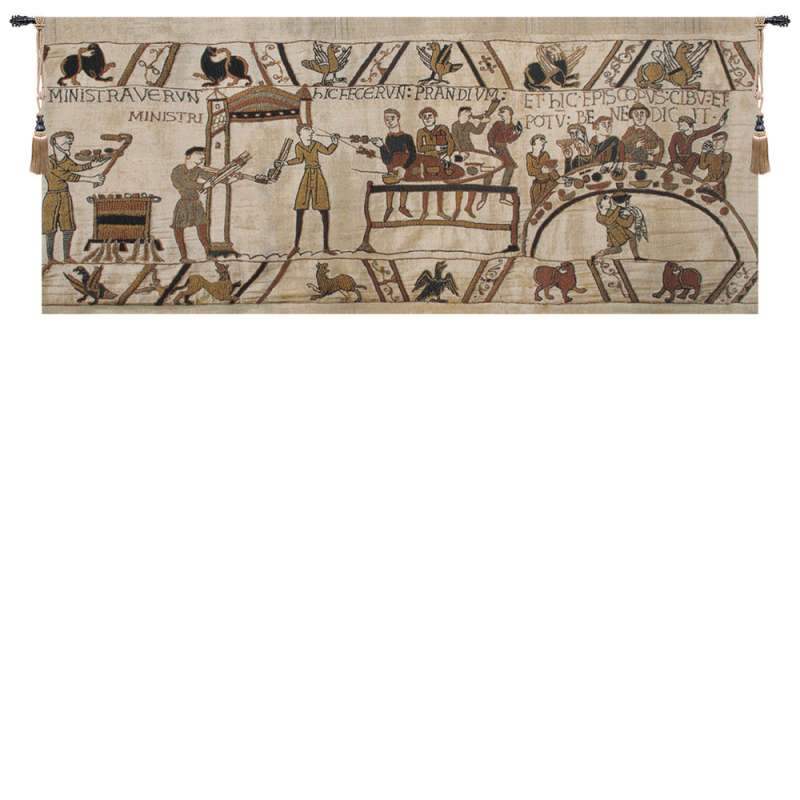 Bayeux Banquet II Belgian Tapestry Wall Hanging