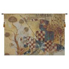 Chevaliers Right Panel Belgian Tapestry Wall Hanging