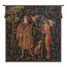 Falconer Mille Fleure Belgian Tapestry Wall Hanging