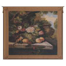Monkey In Still Life I Belgian Tapestry Wall Hanging