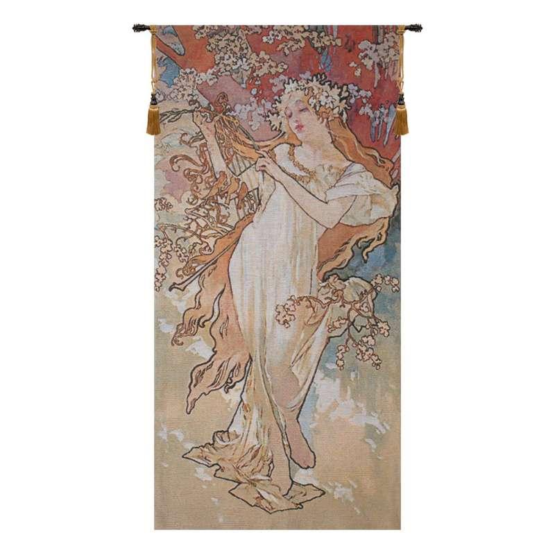 Spring Mucha Belgian Tapestry Wall Hanging