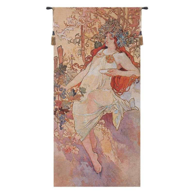 Autumn Mucha Belgian Tapestry Wall Hanging