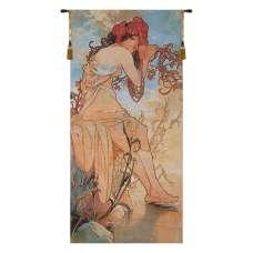 Summer Mucha Belgian Tapestry Wall Hanging
