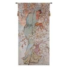 Winter Mucha Belgian Tapestry Wall Hanging