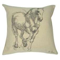 Cheval Da Vinci Decorative Tapestry Pillow