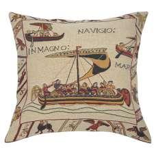 Les Vaisseaux Decorative Tapestry Pillow