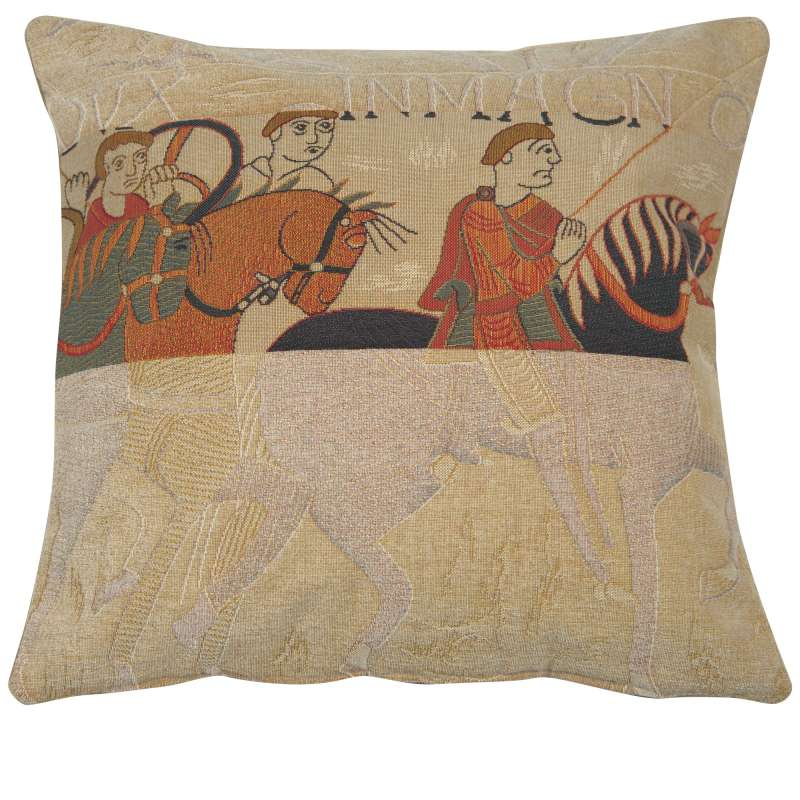 Damas Cavaliers French Tapestry Cushion