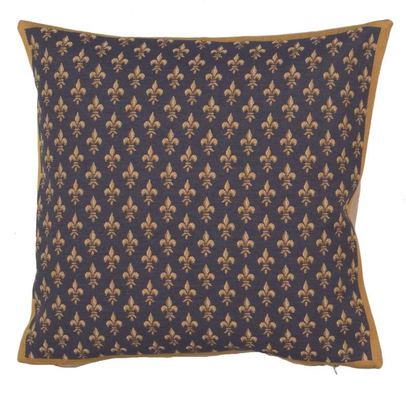Petit Lys Bleu French Tapestry Cushion