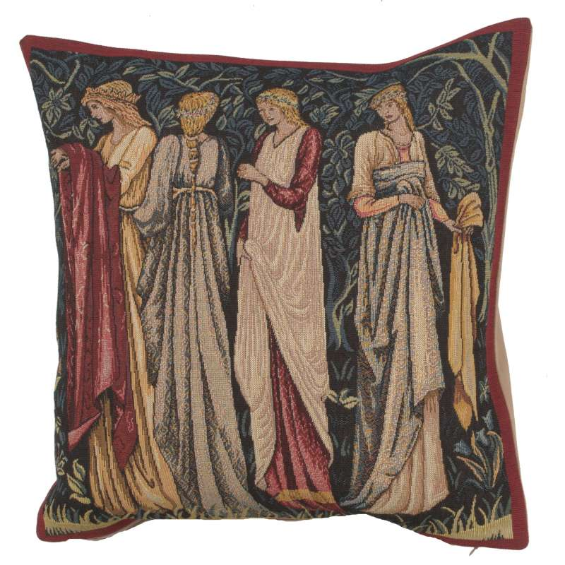 Ladies of Camelot French Tapestry Cushion