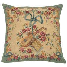 Mandoline Vert French Tapestry Cushion