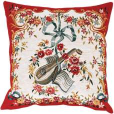 Mandoline Rouge French Tapestry Cushion