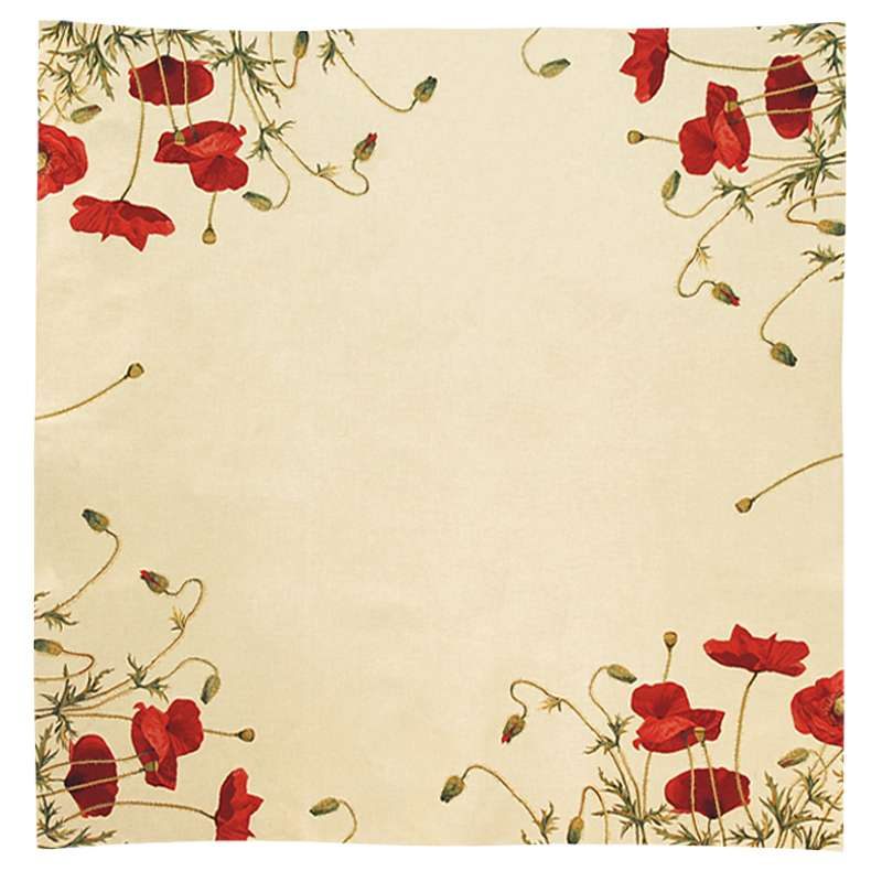Gentil Coquelicot French Tapestry Throw