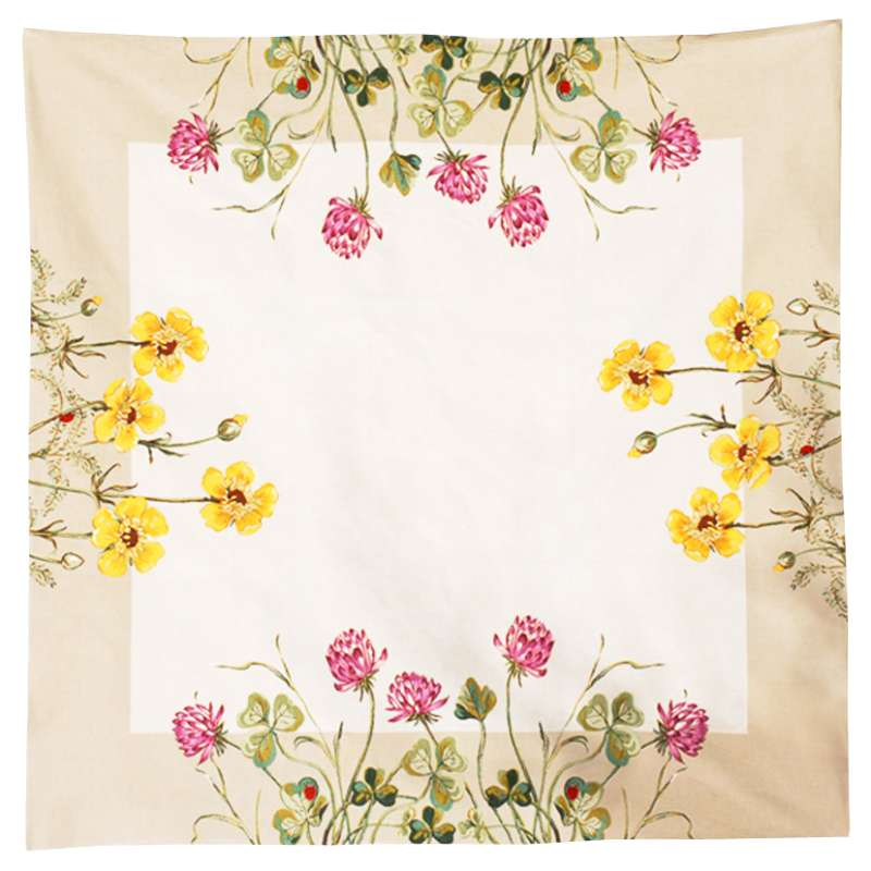 Trefles Et Boutons D'Or French Tapestry Throw
