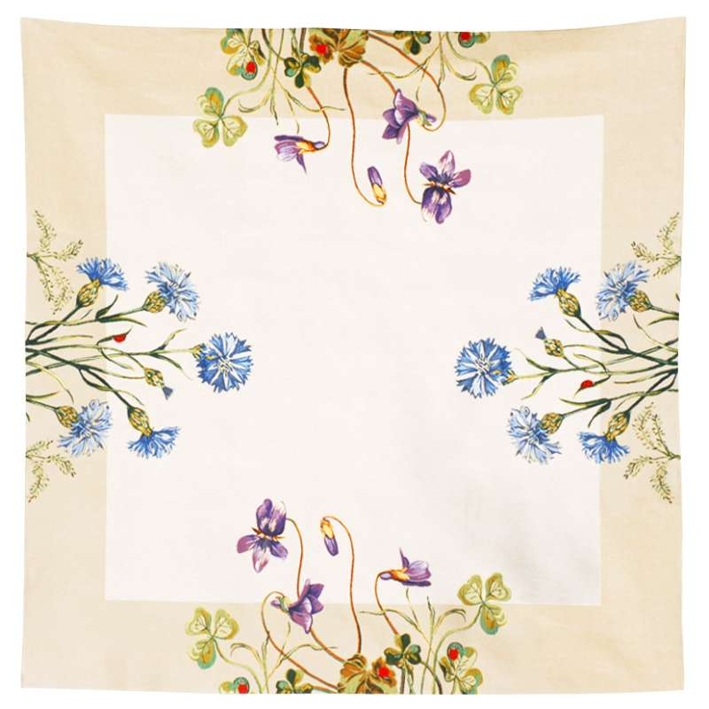 Violettes Et Bleuets French Tapestry Throw