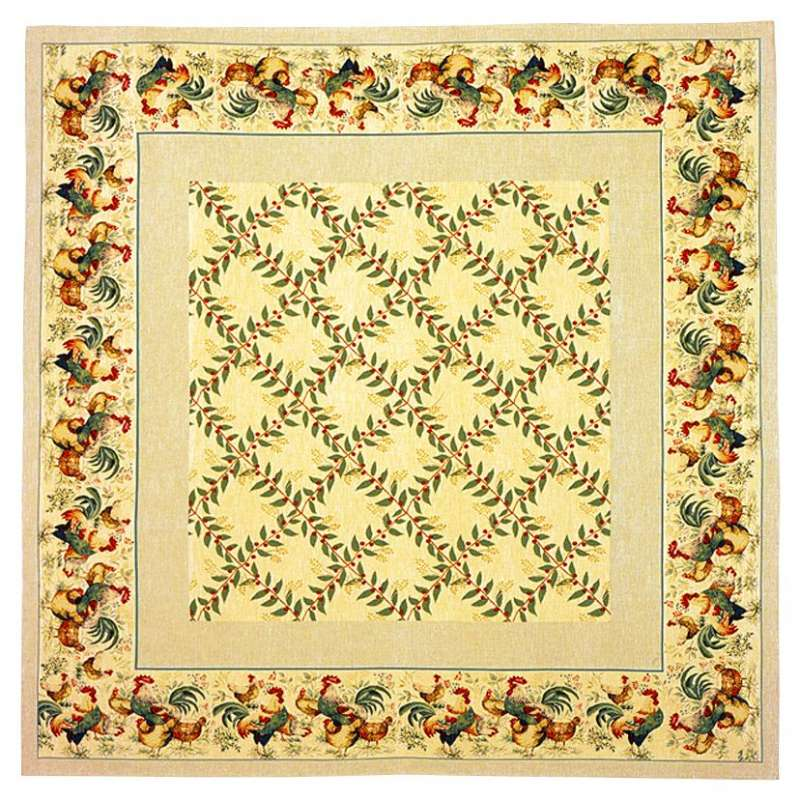 Au Chant Du Coq French Tapestry Throw