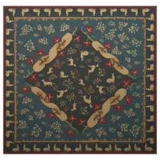 Medieval Bleu French Tapestry Throw