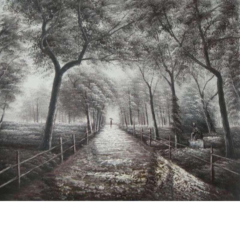 Peaceful Park Stroll Canvas Wall Art