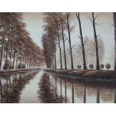 Meander in the Mist Canvas Oil Painting
