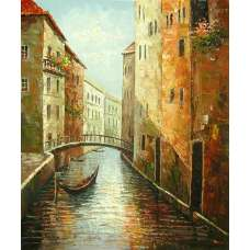 Gondola Canal Canvas Wall Art