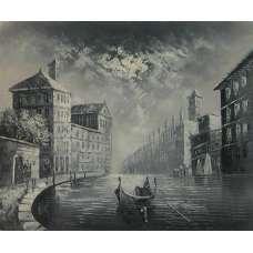 Venetian Cityscape Canvas Wall Art