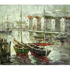 Two Sailboats Canvas Wall Art